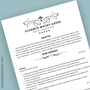 Free Hospitality Themed Professional Word CV Template