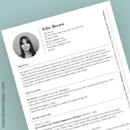 Cv Template Collection 193 Free Professional Cv Templates In Word