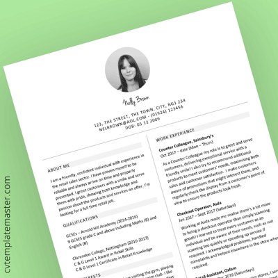 Free Retail Sales CV Template In Microsoft Word