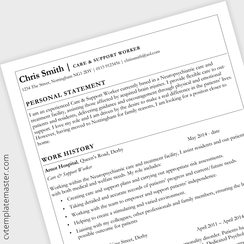 Basic Cv Template Collection In Microsoft Word Format