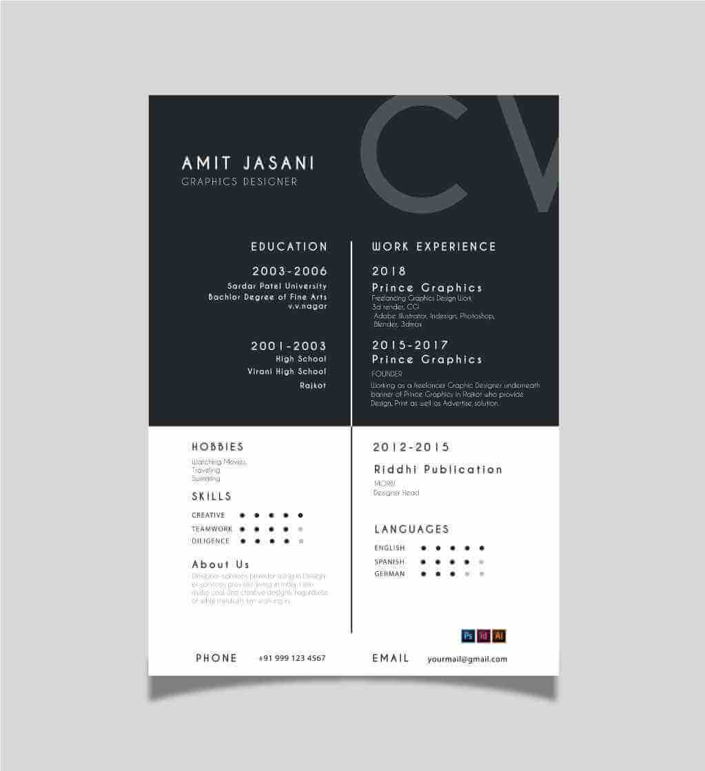 Box detail CV template