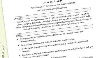 Functional CV template (free) with guide