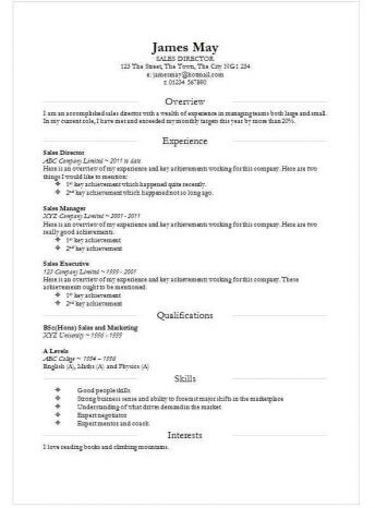 Free Smart Division CV template in Word