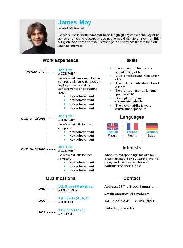 free timeline cv template in microsoft word