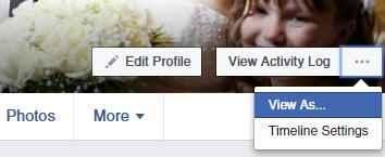 Facebook 'View As'