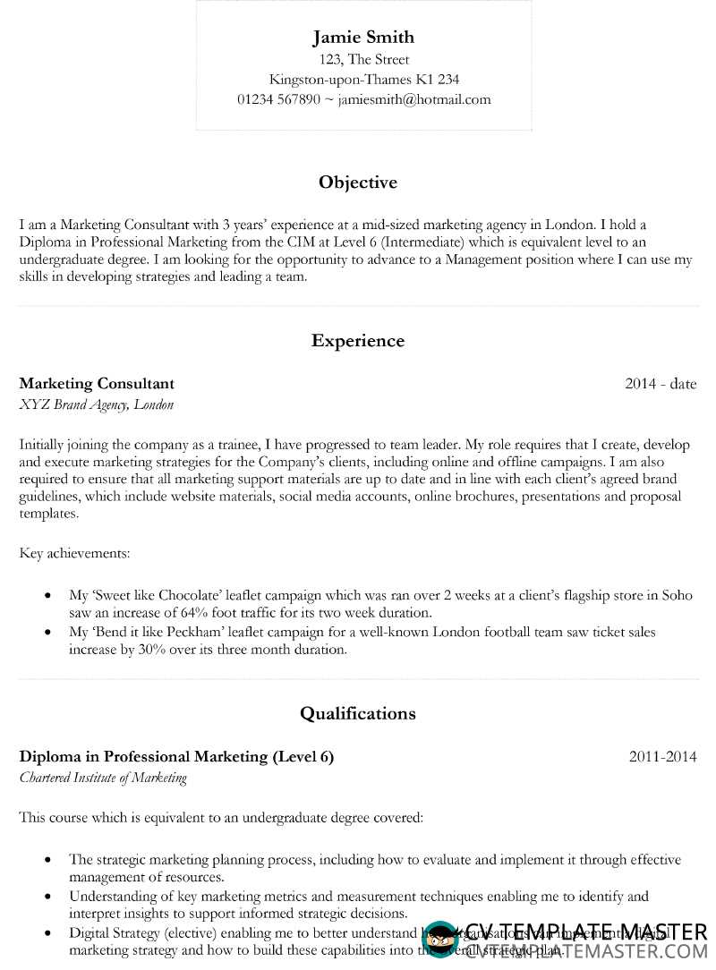 basic cv template 2018 in microsoft word