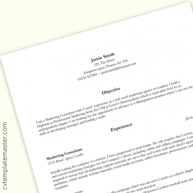 Free Basic CV template 2020 – Word format