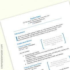 Student CV template : featured boxes design (free download)