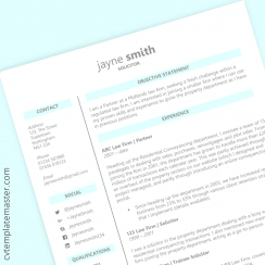 Legal CV template: free law-themed Word download
