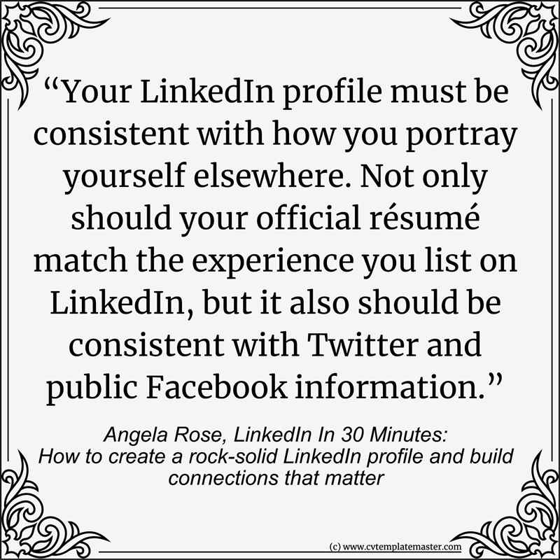 LinkedIn on your CV
