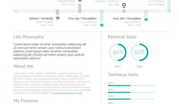 Stylish Creative Cv Templates In Ms Word For You To Download Free