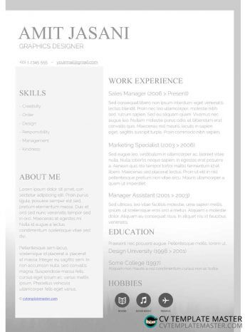 Free Download: Microsoft Word Banded CV Template