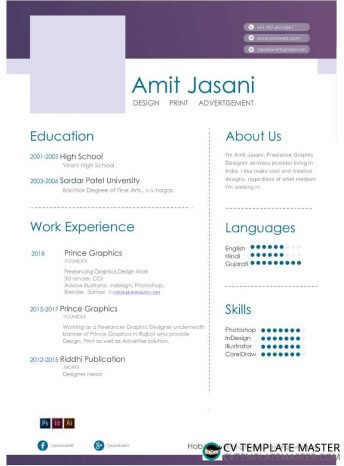 Free Highlight Microsoft Word CV template