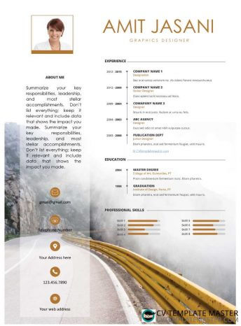 Journey free CV template in Word format