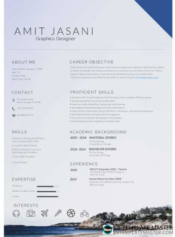 Free download: 'Coasting' CV template in MS Word format
