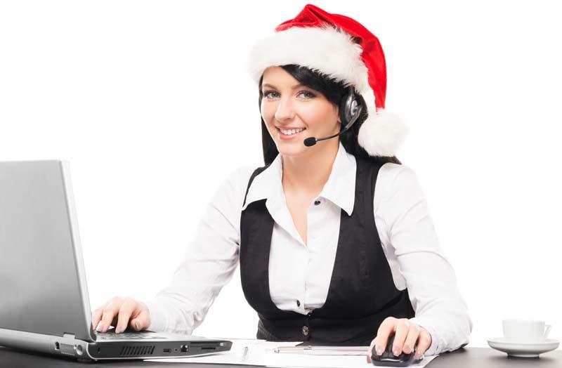 Christmas secretary