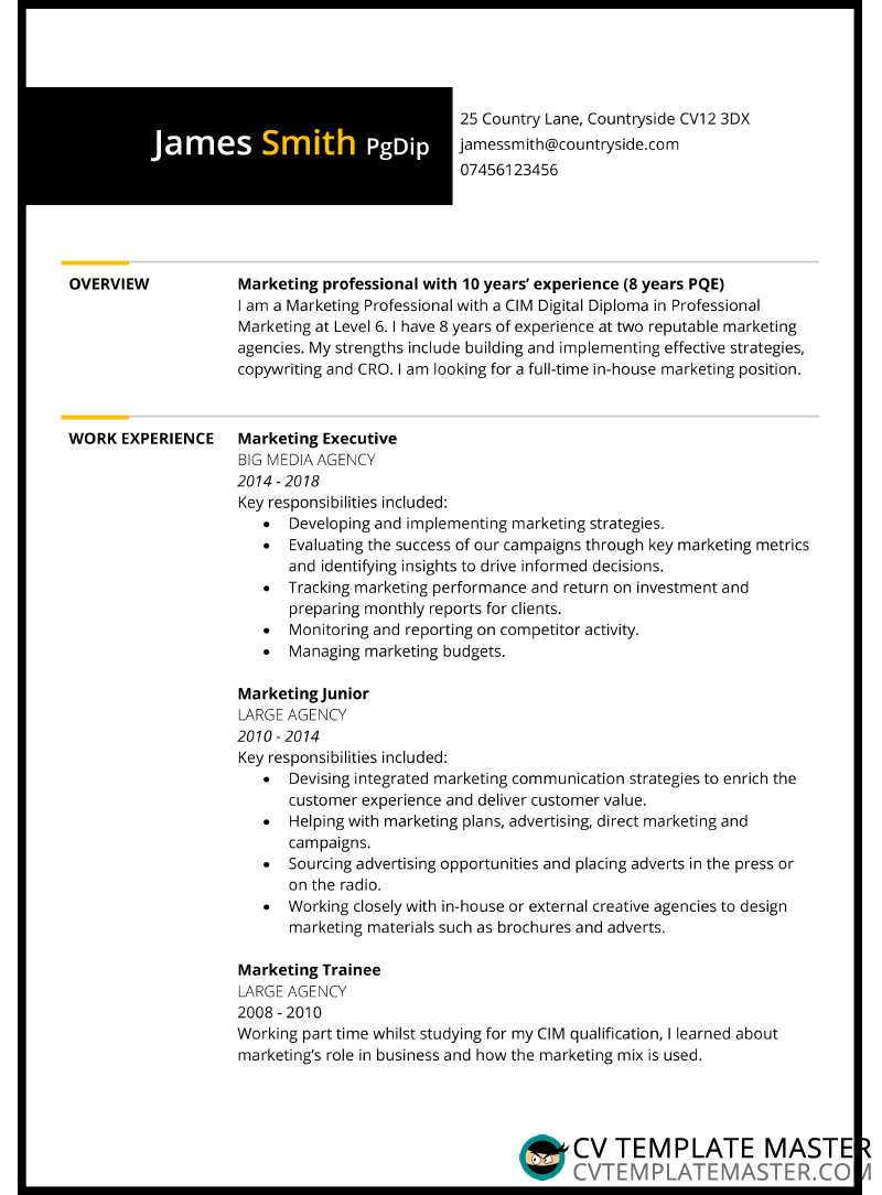 Two Page Bordered Free Cv Template Cv Template Master