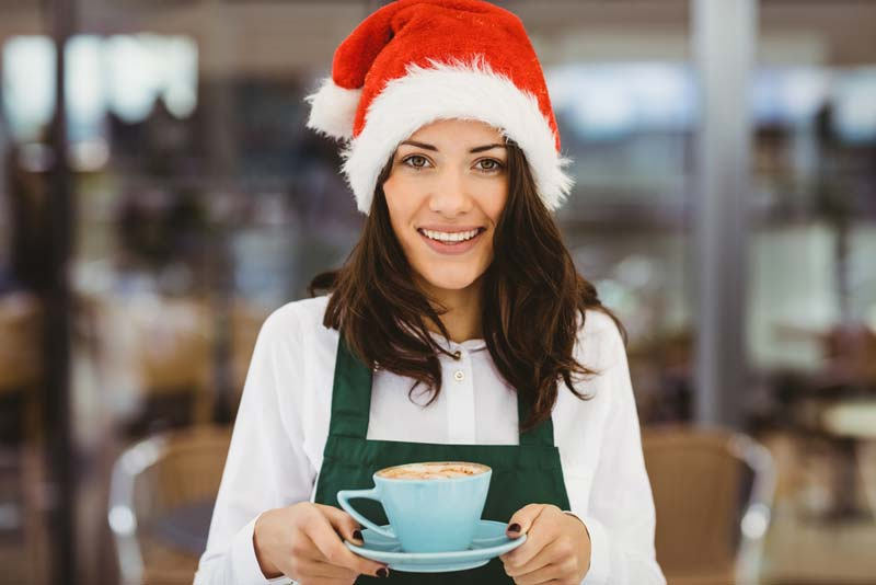 Christmas coffee shop job