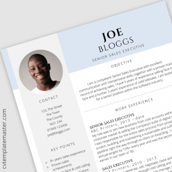 Sales executive CV : 'Certified' Free CV template in MS Word
