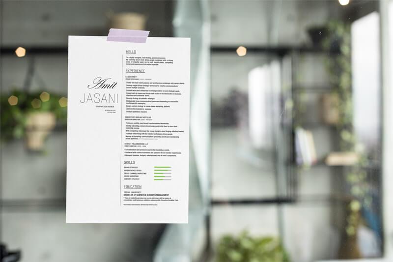 Lush CV template