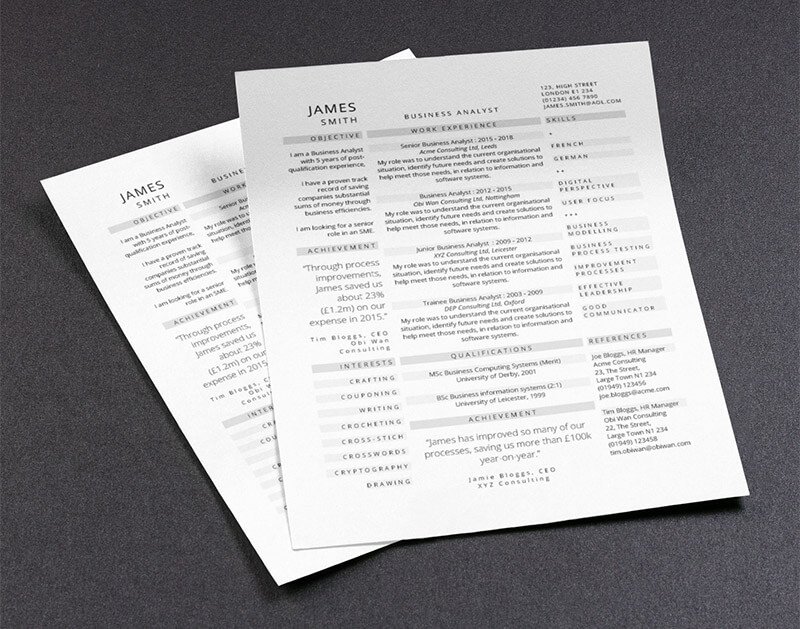12 beautiful cv templates for your 2019 job search