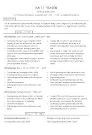 Office Manager Word CV template
