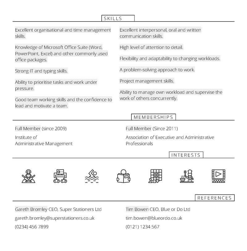 Free Office manager CV template in Microsoft Word - CV Template Master