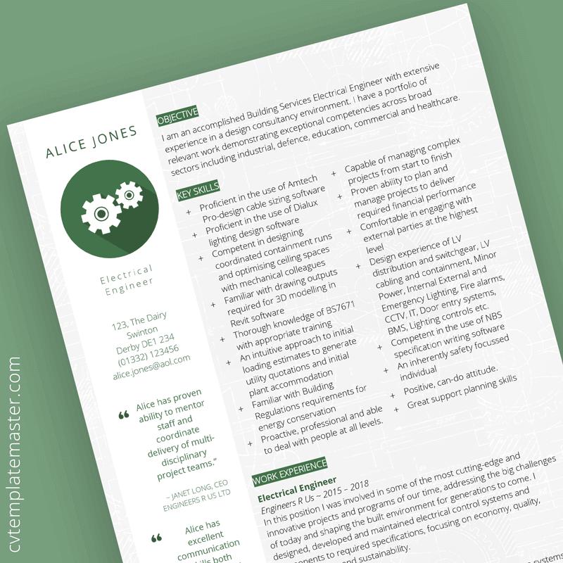 Free Engineering CV template