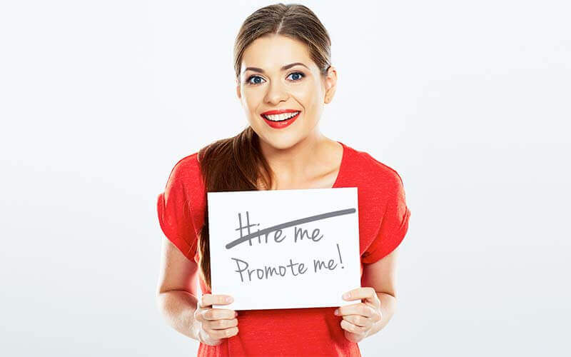 Woman looking for a promotion