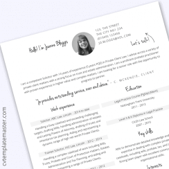 Free Microsoft Word Solicitor CV template