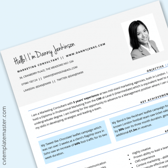 Software Developer CV template : Free 'Connect Lite' design in Microsoft Word