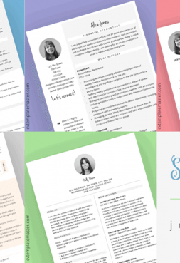 6 beautiful CV templates for your Spring job search