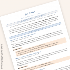 ATS friendly CV template in Microsoft Word format – 'Classic'