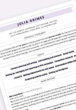 ATS-friendly professional 'Highlight' CV template in MS Word