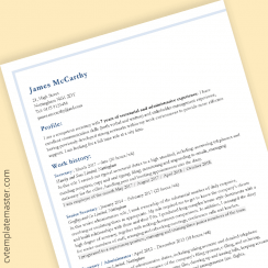 Professional CV template: 'Cornered' design, in Word format