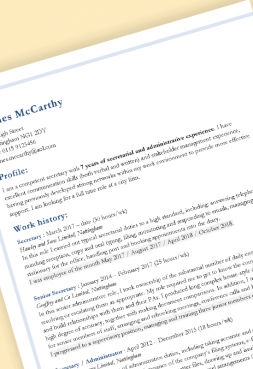 'Cornered' free professional CV template to download