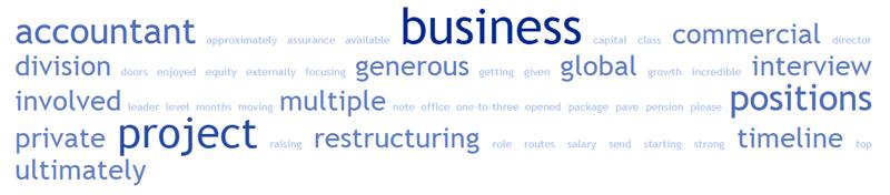 Job advert word cloud