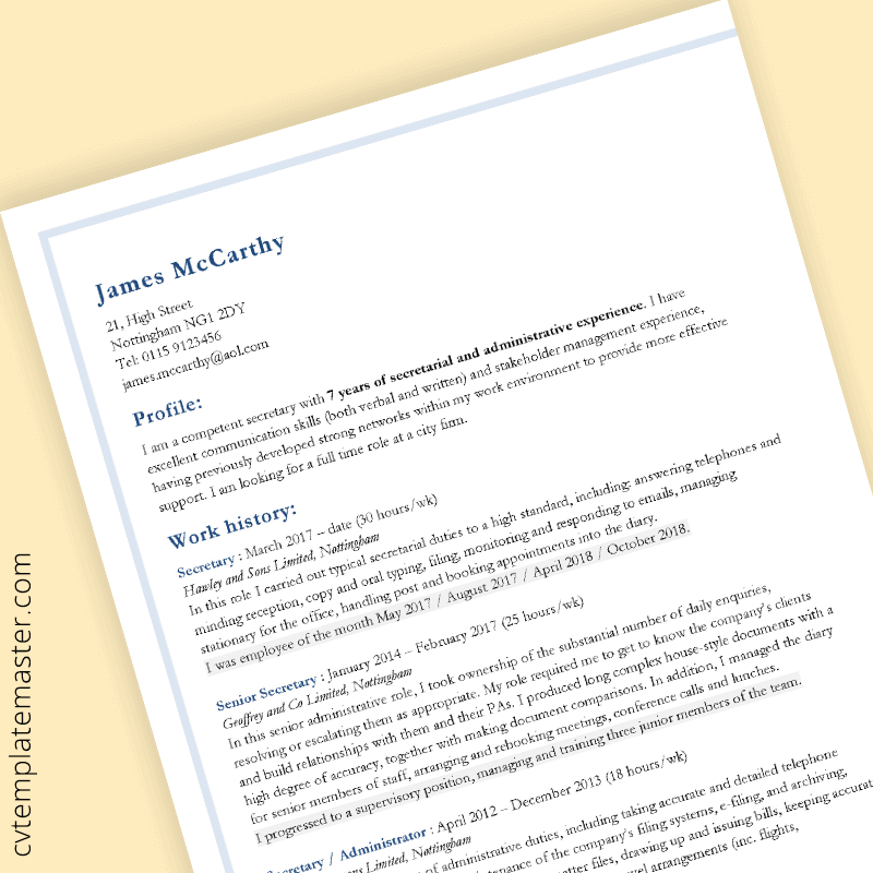 10 Gorgeous CV Templates For Your Summer Job Search