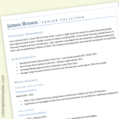 Law CV example: Microsoft Word template (downloadable)