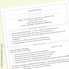 Electrician Cv Template Free Example In Microsoft Word Format